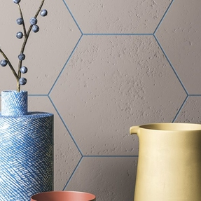 Expression Umber Hexagon Tiles
