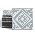 Magma Anais Pattern Tiles - Ice