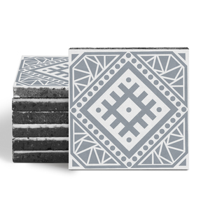 Magma Anais Pattern Tiles - Cement