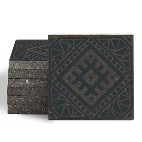 Magma Anais Pattern Tiles - Anthracite