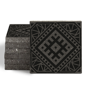 Magma Anais Pattern Tiles - Nero