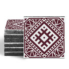 Magma Anais Pattern Tiles - Burgundy