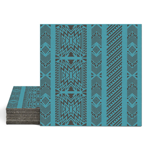 Magma Anive B Pattern Tiles - Turquoise