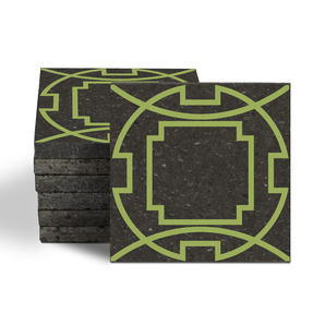 Magma Eleos A Pattern Tiles - Moss