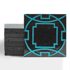 Magma Eleos A Pattern Tiles - Turquoise
