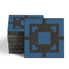 Magma Eneride Pattern Tiles - Denim