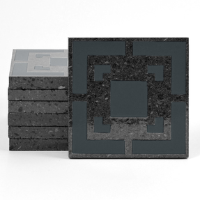 Magma Eneride Pattern Tiles - Anthracite