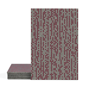 Magma Infine Pattern Tiles - Burgundy