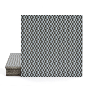 Magma Zinit Pattern Tiles - Cement