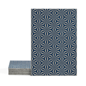 Magma Yannel A Pattern Tiles - Indigo