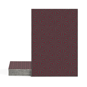 Magma Yannel A Pattern Tiles - Burgundy