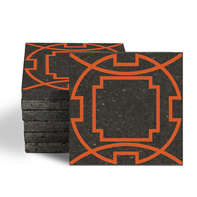 Magma Eleos A Pattern Tiles - Amber