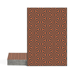 Magma Yannel A Pattern Tiles - Amber