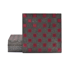 Magma Pania Pattern Tiles - Burgundy