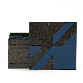 Magma Naine A Pattern Tiles - Sapphire