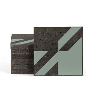 Magma Naine A Pattern Tiles - Olive