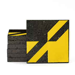 Magma Naine A Pattern Tiles - Mustard