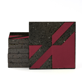 Magma Naine A Pattern Tiles - Burgundy