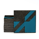 Magma Naine A Pattern Tiles - Cobalt