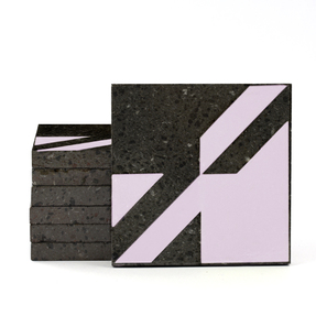 Magma Naine A Pattern Tiles - Lilac