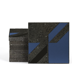 Magma Naine B Pattern Tiles - Denim