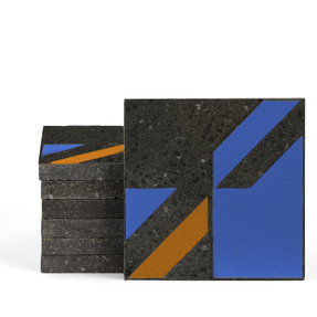 Magma Naine B Pattern Tiles - Sapphire