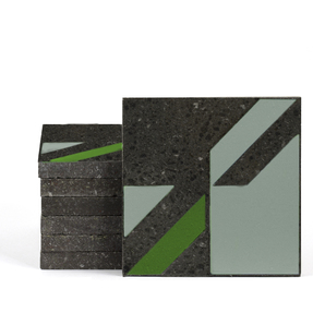 Magma Naine B Pattern Tiles - Olive