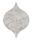 Silver Clouds Marble Winter Leaf Pattern Tiles