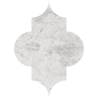 Silver Clouds Marble Arabesque Pattern Tiles