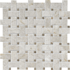 Silver Clouds & Tobacco Marble Basket Weave Pattern Mosaic