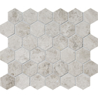 Silver Clouds Marble  Hexagon Pattern Mosaic