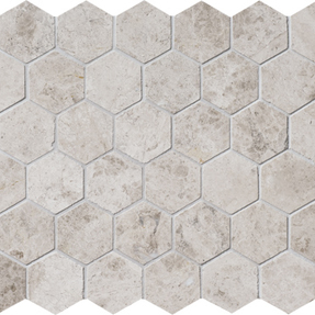 Silvero Marble  Hexagon Pattern Mosaic