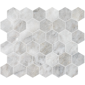Alloy Marble  Hexagon Pattern Mosaic