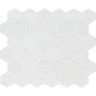 Aspen White Marble  Hexagon Pattern Mosaic