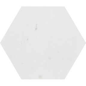 Aspen White Marble Hexagon Tiles