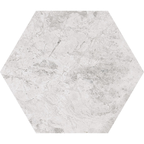 Silver Clouds Marble Hexagon Tiles