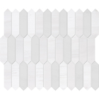 Snow White Marble Rectangle Baby Picket Pattern Mosaic