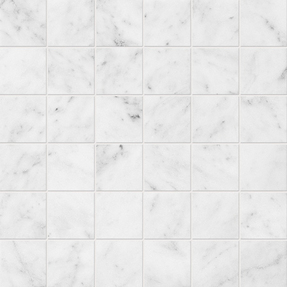 Avalon Marble Square Stack Bond Pattern Mosaic