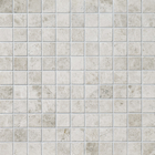Silver Clouds Marble Square Stack Bond Pattern Mosaic