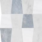 Glacier, Afyon Grey & Snow White Marble Tapered Pattern Tiles
