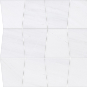 Snow White Marble Tapered Pattern Tiles