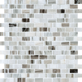 Verona Marble Rectangle Brick Bond Pattern Mosaic