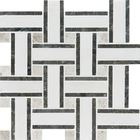 Aspen White Marble Lattice Pattern Mosaic