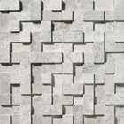 Silvero Marble Square Random Cubes Pattern Mosaic