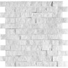 Avalon Marble Rectangle Rock Face Pattern Mosaic