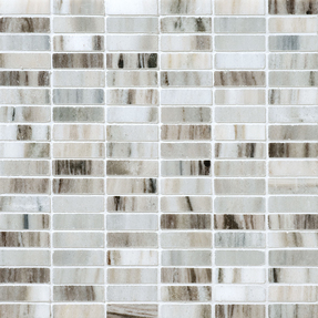 Verona Marble Rectangle Stack Bond Pattern Mosaic