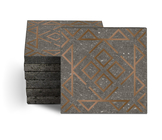 Magma Nadara Pattern Tiles - Bronze