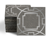 Magma Eleos A Pattern Tiles - Lead