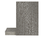 Magma Infine Pattern Tiles - Lead