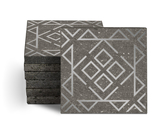 Magma Nadara Pattern Tiles - Lead